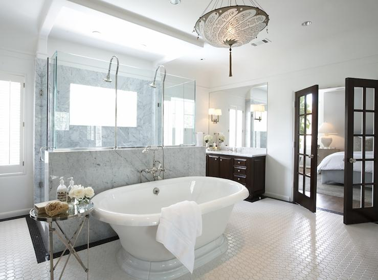 Ashley Goforth Design - bathrooms - Global Views Round Directoire...