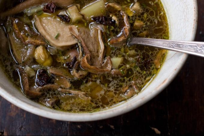 Porcini Mushroom Soup Recipe - 101 Cookbooks source