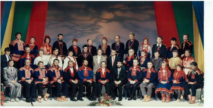 Plenary of the inaugural Sami Parliament in 1989