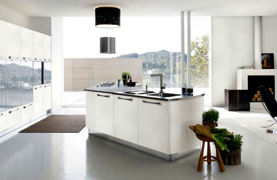 Cozy White Color Italian Kitchen Design listed in: home Depot...