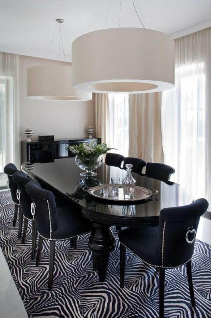 photos of black dining rooms
