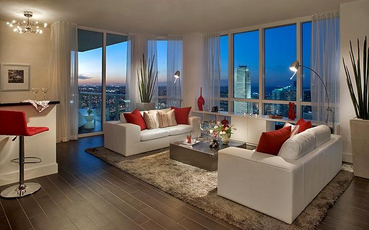 Miami-Interior-Design-Photographer-living-room-night-in-