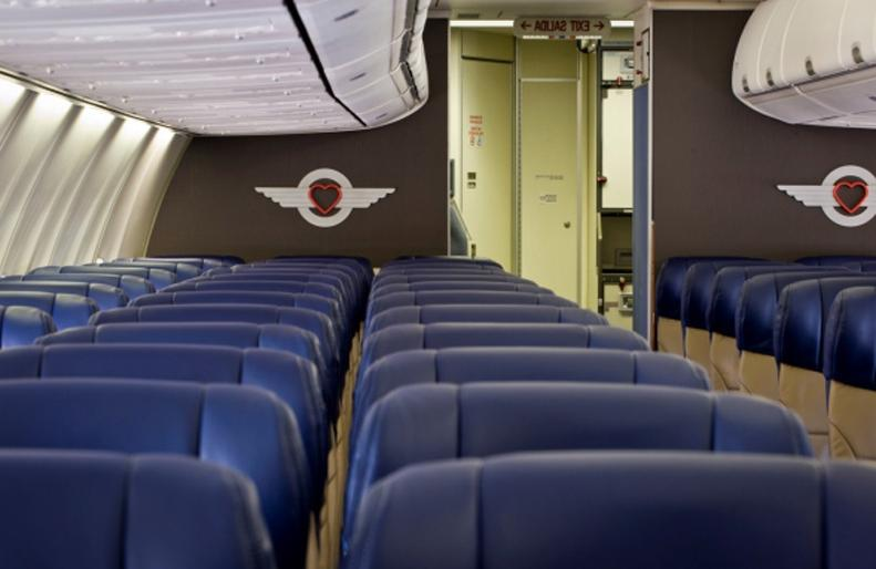 Southwest Airlines Interior Photos