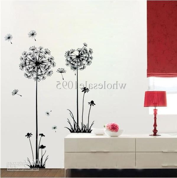 Removable Dandelion Flower Wall Decoration Tree in the wind Wall...