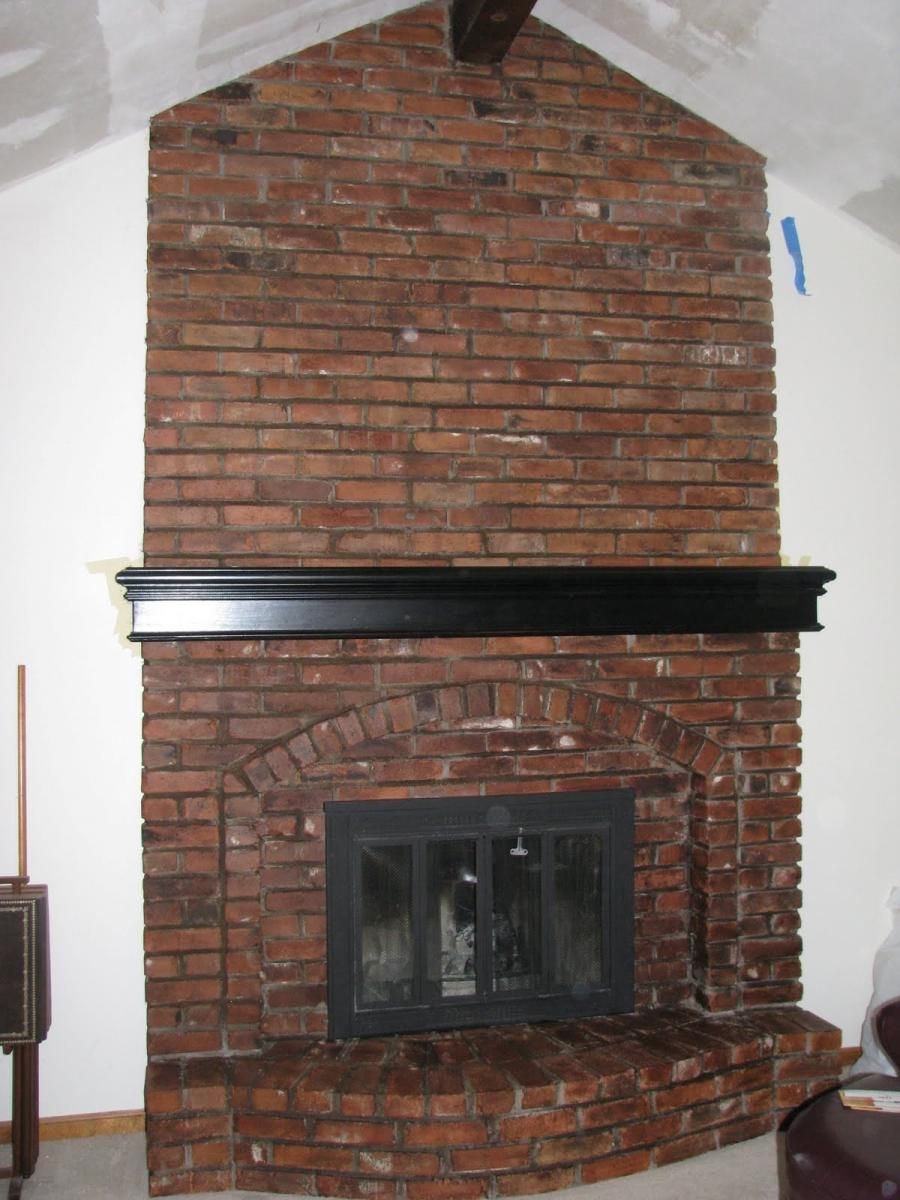 Brick Fireplace Refacing Photos