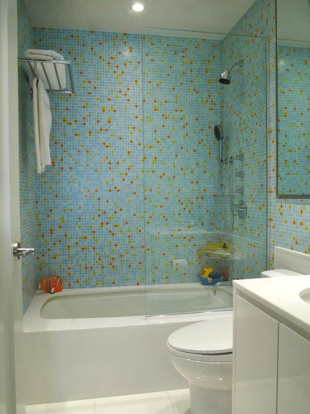 Bathroom glass tile ideas photos - Recycled glass tiles bathroom ...