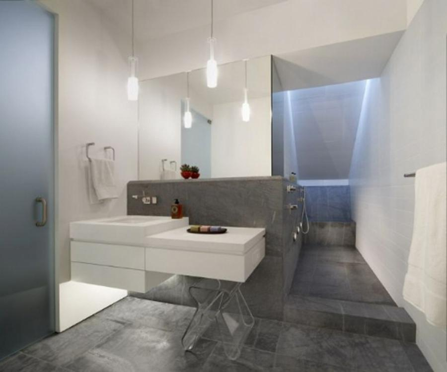 Contemporary Bathroom Design With Neat Ornament listed in: modern...