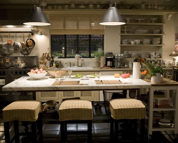 With celebrity in mind, I came across this movie set kitchen that...