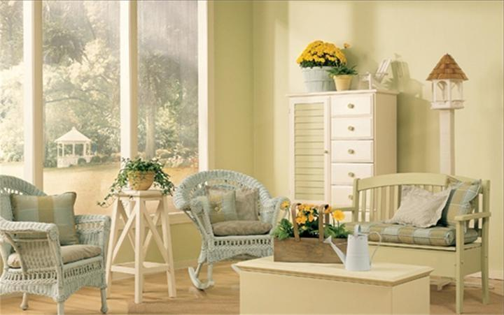 Seaside Country Cottage interior design Cream Color