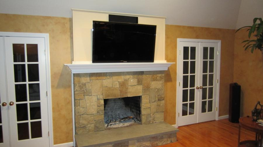 Tv Above Fireplace Photos