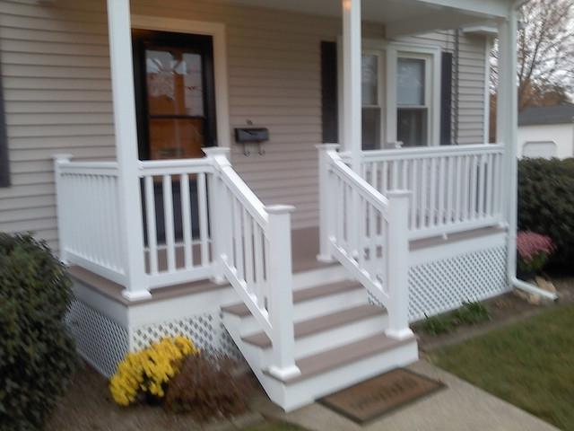 Front Porch and Deck traditional-porch