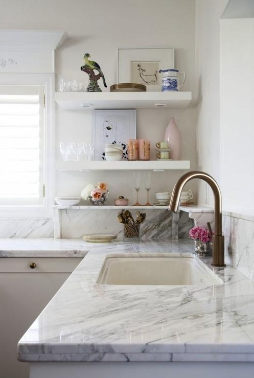 Marble kitchen countertop photos