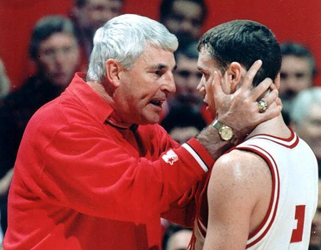 Bobby Knight Throws Chair Youtube | All Basketball Scores Info
