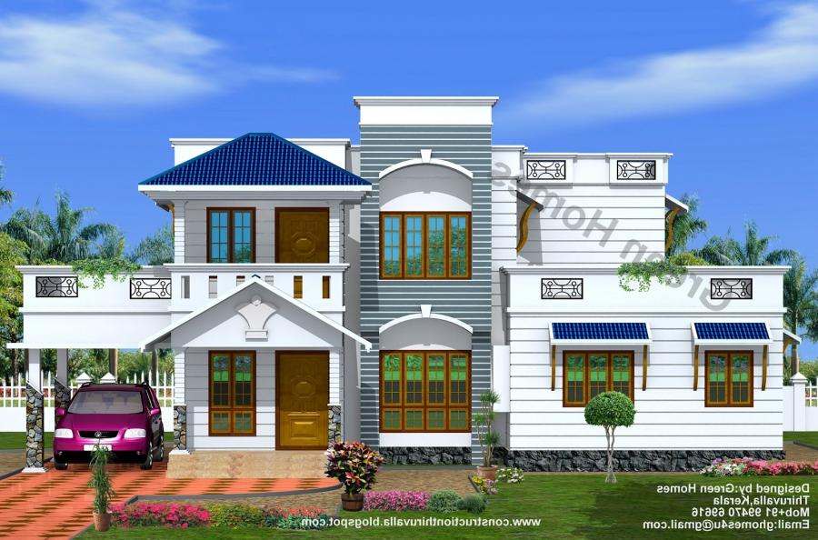 2200 Sq. Ft duplex house designed by Green Homes...