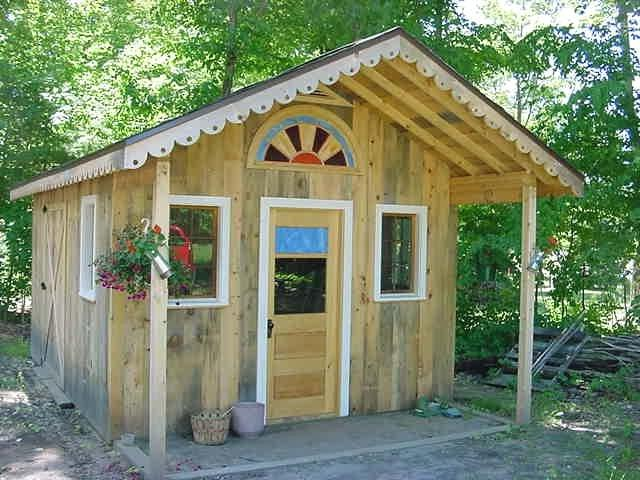 Photos of rustic garden sheds for Rustic shed with porch