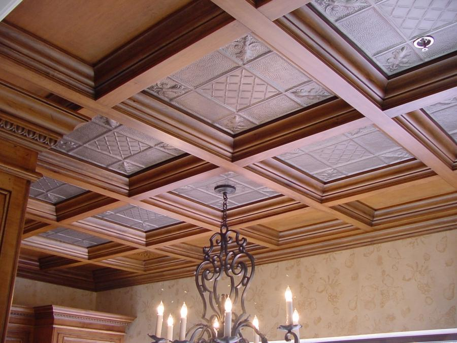 WoodGrid Wood Coffered Ceiling