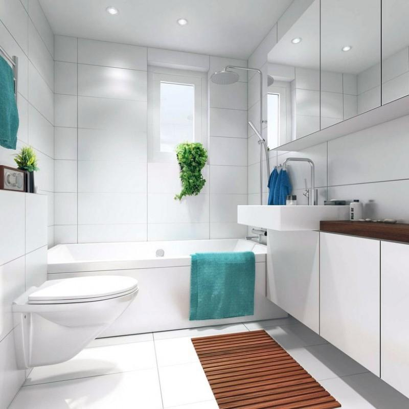 Inspiring Small White Bathroom With Floor Mats Ideas Stunning...