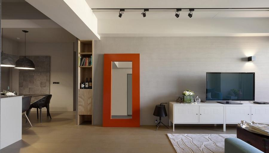 modern apartment MKW 1 Color Enhanced Minimalism Showcased by...