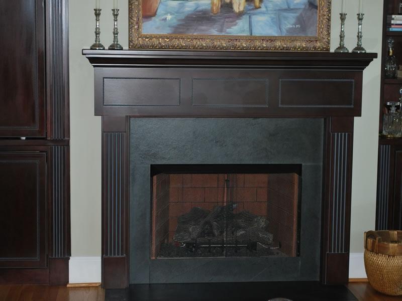 Photos of fireplace mantels