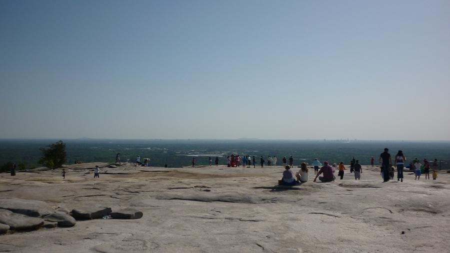 Summit of Stone Mountain, Kennesaw Mountain in Background