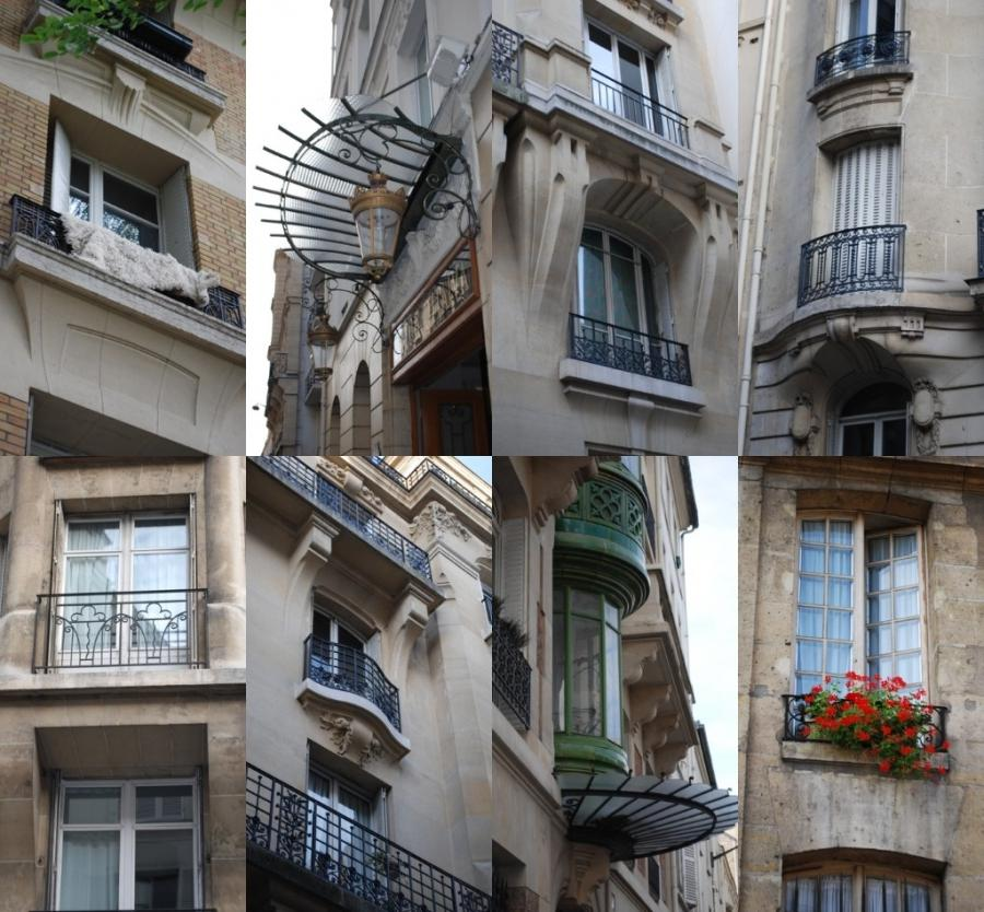 Oh, to live behind a Parisian balcony
