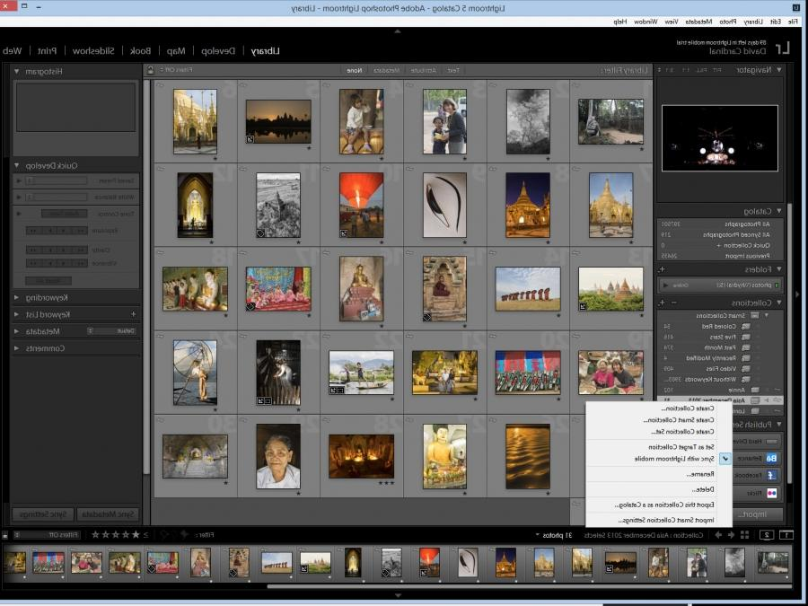 You simply mark collections in your desktop or laptop Lightroom...