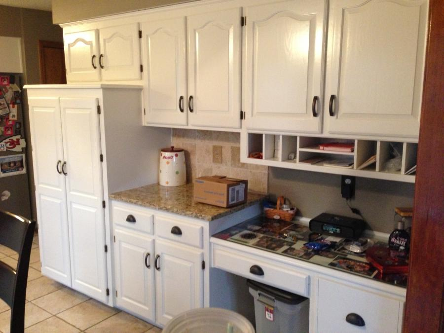Photos refinished cabinets for Kitchen cabinets kansas city