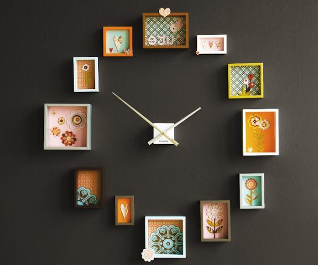 Do it yourself photo wall clock for Whatever clock diy