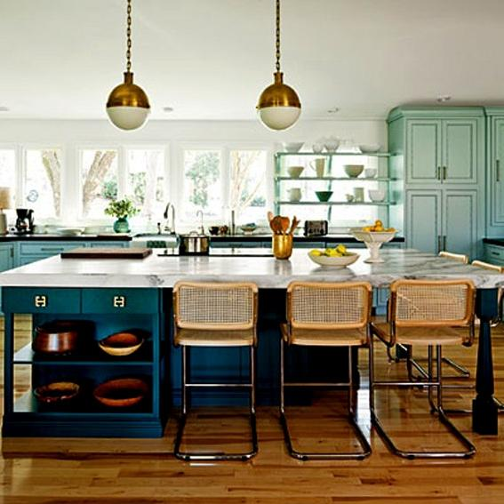 Blue Kitchen Cabinets and Design Ideas The Small Kitchen Design