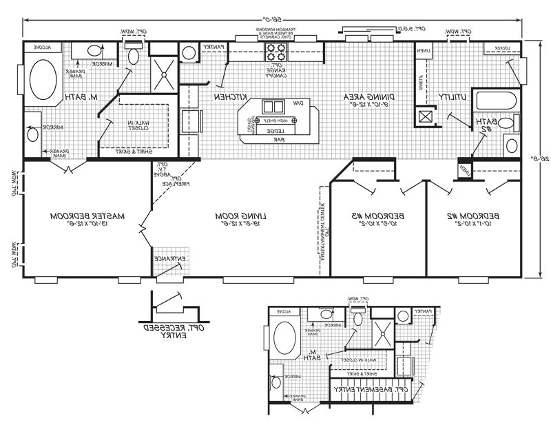 Doublewide Mobile Home Floor Plans And Photos