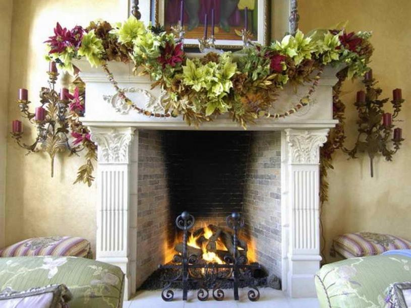 ... Mantel With Black Frame Which Gives Firmness On The Framed...
