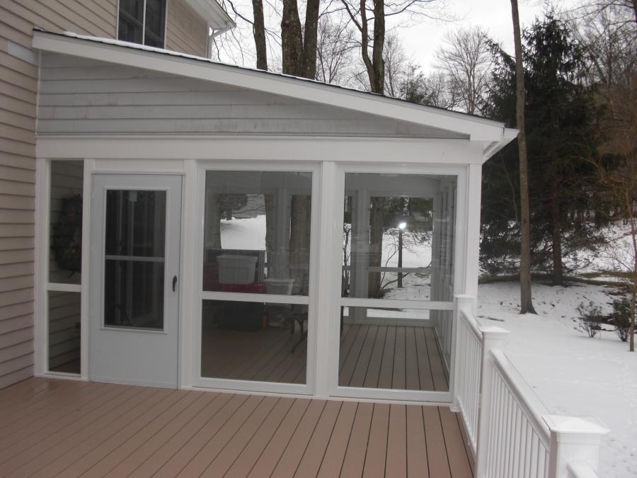 Enclosed house deck photos for Enclosed deck plans