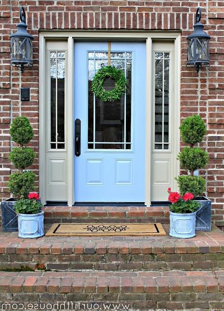 Front door pots photos - Jonquil yellow interior design ideas with surprising appeal ...