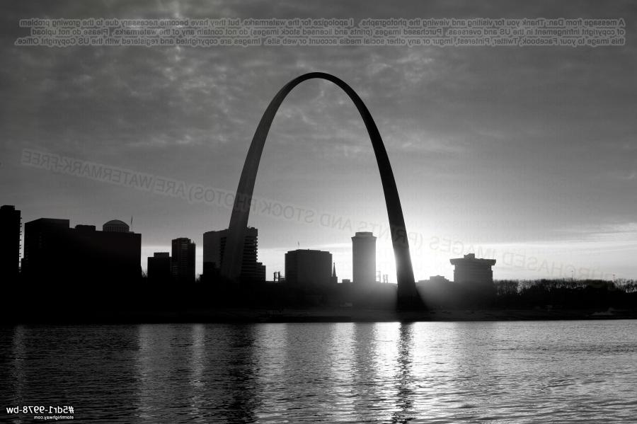 St Louis History In Black And White: Black And White Photos Of St. Louis Arch