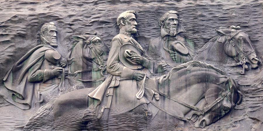 Close-up of the memorial. 1925 Stone Mountain ...