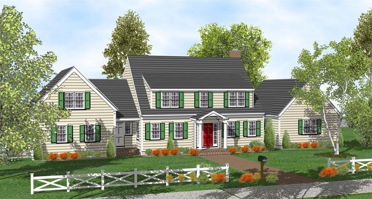 Cape cod house plans with photos for Two story cape cod house plans