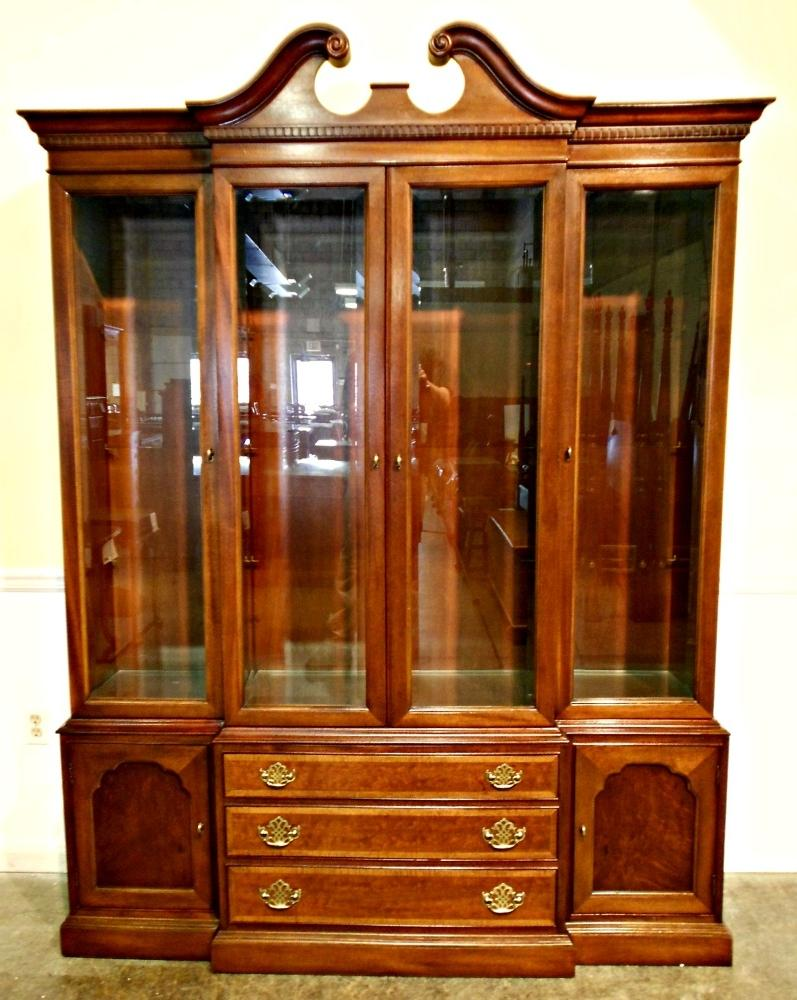 Hickory Chair Banded Mahogany China Cabinet