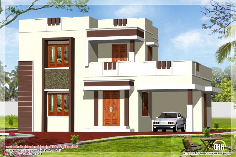 Flat roof house elevation photos in kerala style for Kerala home design flat roof elevation