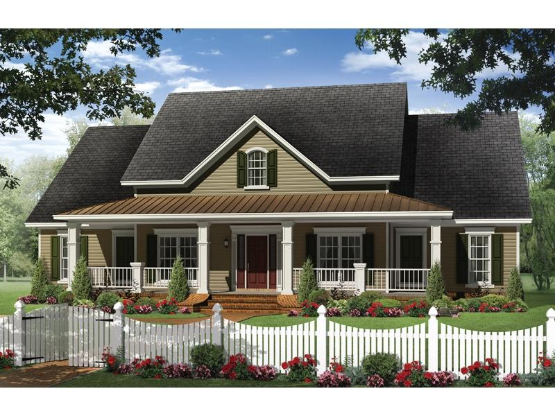 Ranch porch photos for Country home plans one story