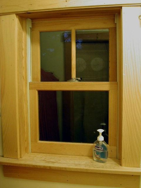 Interior window wood trim photos for Interior storm windows