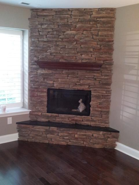 Photos Of Corner Stone Fireplaces