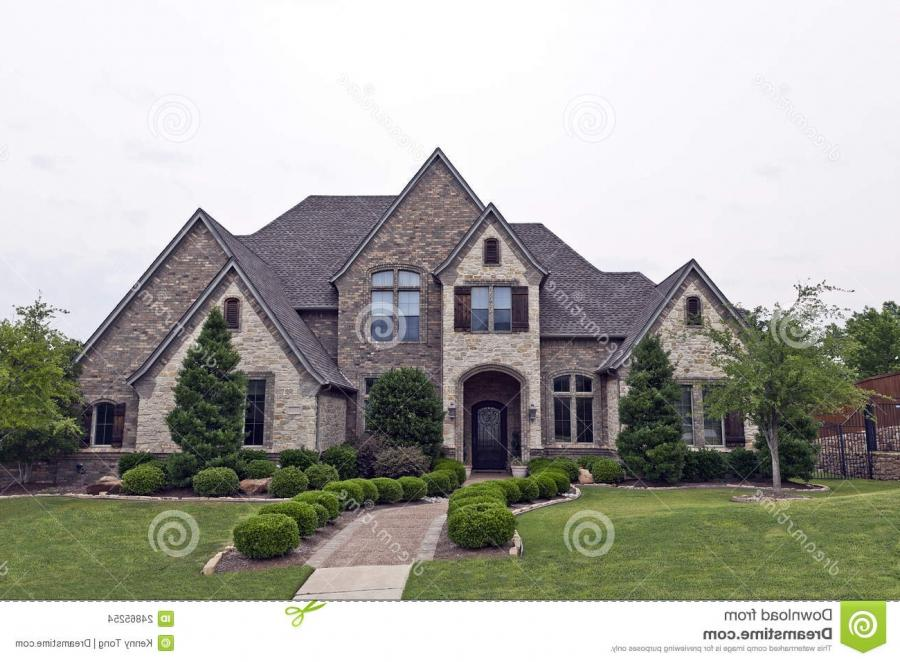 Stone and brick exterior photos for New homes source