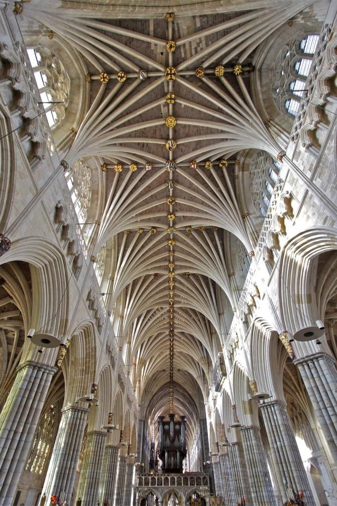 St Peter Church Cathedral Ceiling Exeter Devon
