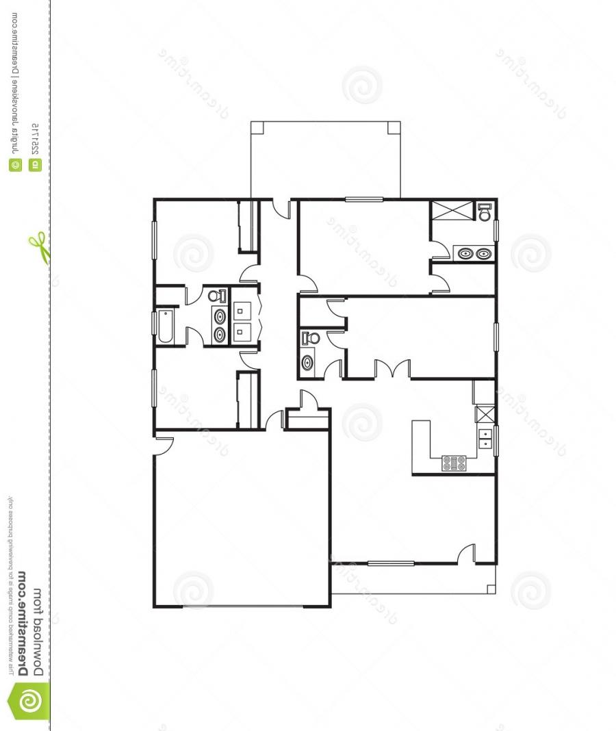 Single family house plans photos for Free single family home floor plans