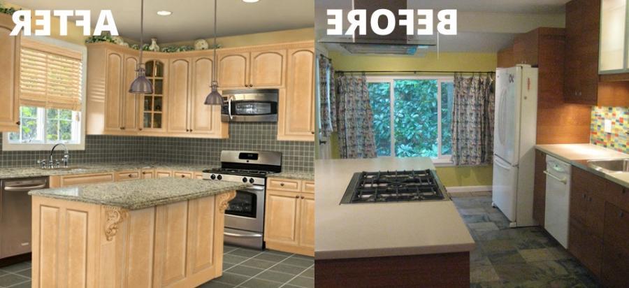 Photo of kitchen makeover for Kitchen designs lancashire