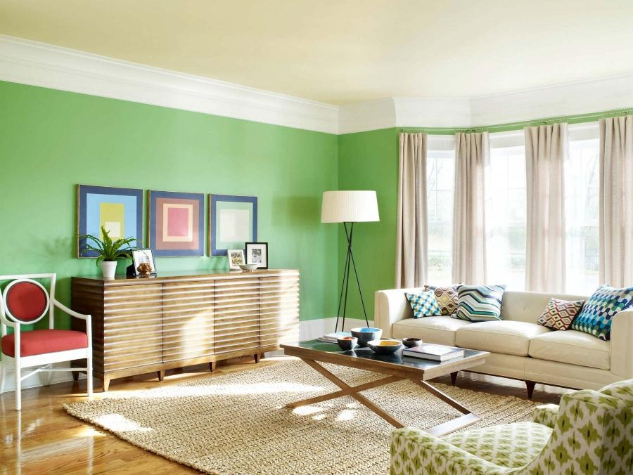 Light color will always make the space look larger, and airy....