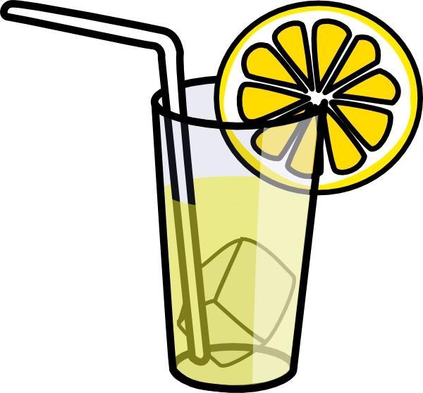 Lemonade clip art black and white
