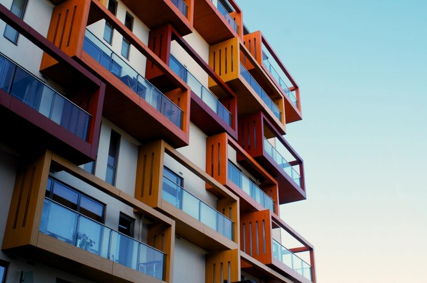 Balconies-of-a-modern-luxury-apartments-with-a-