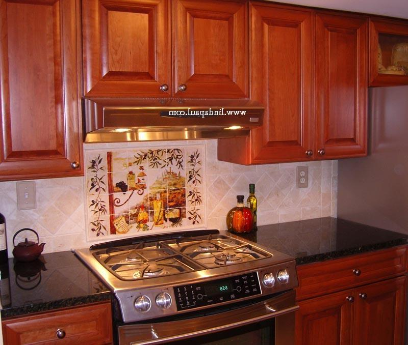tuscan backsplash tile murals tuscany design kitchen tiles source