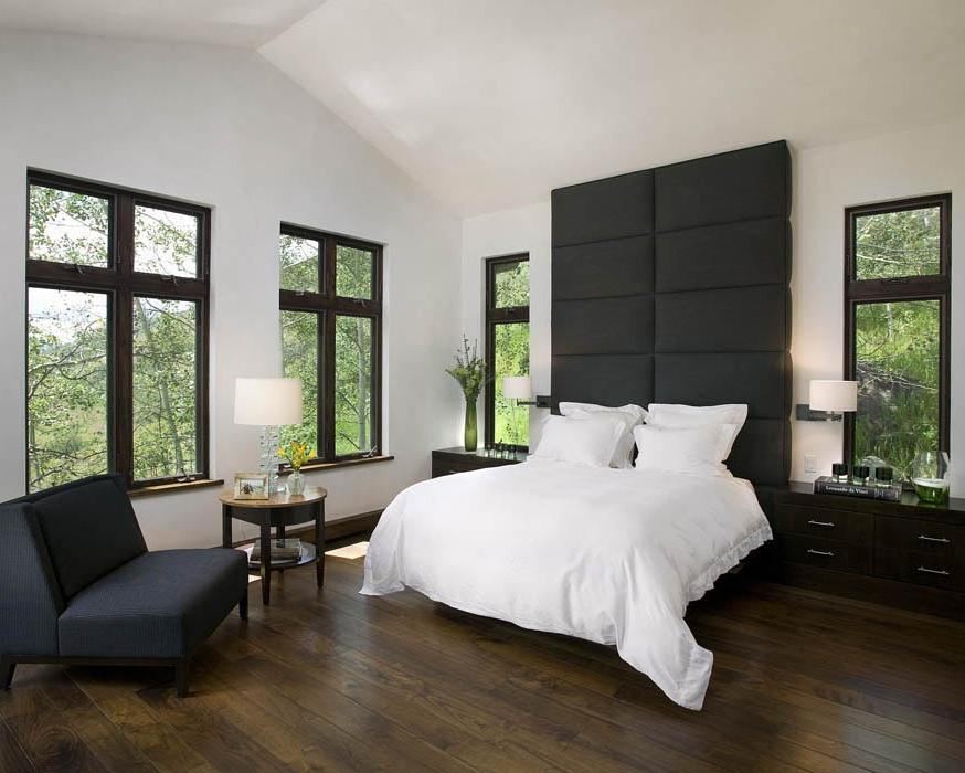 photos of rooms with dark hardwood floors